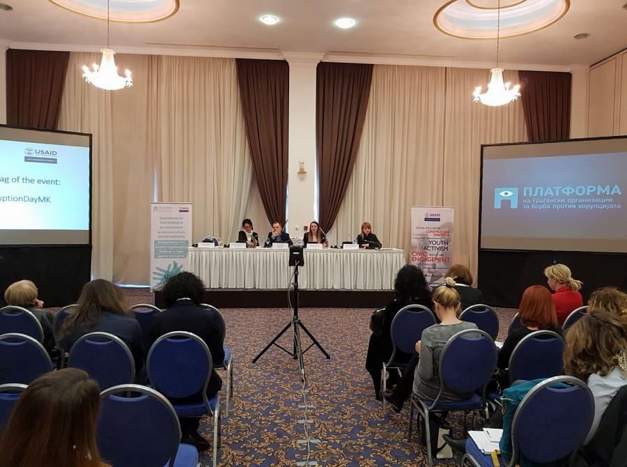 Платформата на граѓански организации за борба против корупција го одбележа Меѓународниот ден за борба против корупција